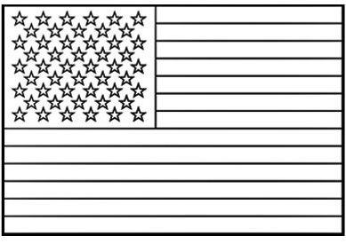 Bandera de Estados Unidos para colorear