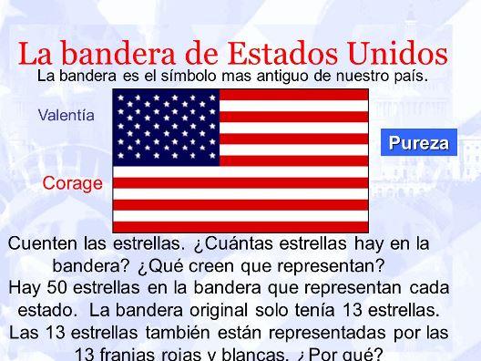 Colores de la bandera de Estados Unidos